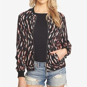 1.State Bleach Out Print Bomber Jacket